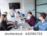 business team meeting in modern ... | Shutterstock . vector #632581733