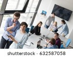 two business people using... | Shutterstock . vector #632587058