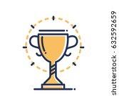 trophy   modern vector single... | Shutterstock .eps vector #632592659