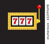 slot machine. golden color... | Shutterstock .eps vector #632595698