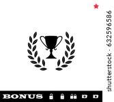 trophy icon flat. simple black... | Shutterstock . vector #632596586