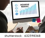 Small photo of ACHIEVE RESULT compass , businessman Results and Expectations , arrows in business diagram