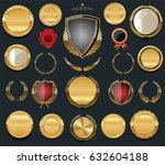 luxury  golden design elements... | Shutterstock .eps vector #632604188