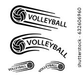 volleyball ball motion line...