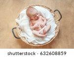 newborn boy | Shutterstock . vector #632608859
