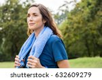beautiful fit mature woman... | Shutterstock . vector #632609279