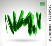 brush stroke and texture.... | Shutterstock .eps vector #632609360