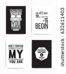 a set of four motivational... | Shutterstock .eps vector #632611403