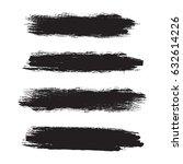 set of grunge brush strokes.... | Shutterstock .eps vector #632614226