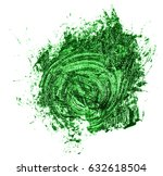 stain of oil green paint on... | Shutterstock . vector #632618504