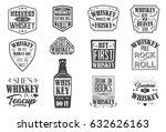 whiskey quote badges  motto... | Shutterstock .eps vector #632626163