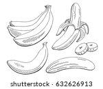 banana fruit graphic black... | Shutterstock .eps vector #632626913