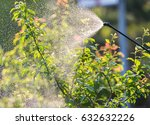 gardener applying an... | Shutterstock . vector #632632226