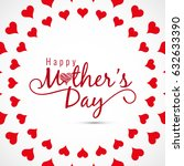 modern mother's day card design | Shutterstock .eps vector #632633390