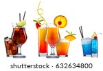 alcohol cocktail set on a white ... | Shutterstock . vector #632634800
