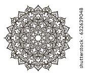 mandala. ethnic decorative... | Shutterstock .eps vector #632639048
