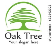 oak tree logo template | Shutterstock .eps vector #632643323
