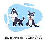 illustration of a cartoon husky ... | Shutterstock .eps vector #632643488