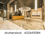 lobby entrance with reception... | Shutterstock . vector #632645084
