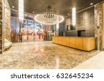 lobby entrance with reception... | Shutterstock . vector #632645234