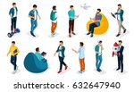 trendy isometric vector people  ... | Shutterstock .eps vector #632647940