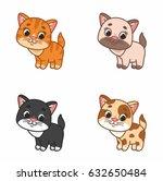 funny little kitty. vector... | Shutterstock .eps vector #632650484
