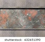 metal texture with plates... | Shutterstock . vector #632651390