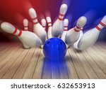 illustration of a 3d bowling... | Shutterstock . vector #632653913