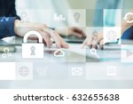 data protection and cyber... | Shutterstock . vector #632655638