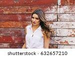 beautiful girl  posing for the...   Shutterstock . vector #632657210