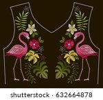 embroidery stitches with... | Shutterstock .eps vector #632664878