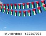 jordan flag festive bunting... | Shutterstock . vector #632667038