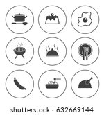 cooking icons | Shutterstock .eps vector #632669144