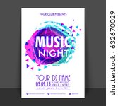 music night flyer  template or... | Shutterstock .eps vector #632670029