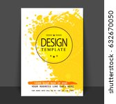 creative white and yellow color ... | Shutterstock .eps vector #632670050