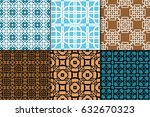 set of 6 seamless pattern.... | Shutterstock .eps vector #632670323