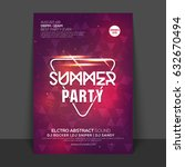 creative shiny flyer  template... | Shutterstock .eps vector #632670494