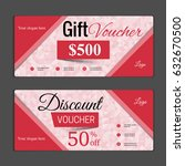 gift voucher template. can be... | Shutterstock .eps vector #632670500