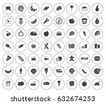 food icons | Shutterstock .eps vector #632674253