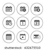 calendar icons | Shutterstock .eps vector #632675510