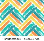 Painted Chevron Pattern....
