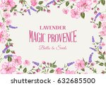 provence memory card with frame ... | Shutterstock .eps vector #632685500