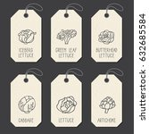 set of tags or label templates... | Shutterstock .eps vector #632685584