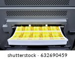 digital printing machine during ... | Shutterstock . vector #632690459