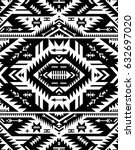 black and white color tribal... | Shutterstock .eps vector #632697020