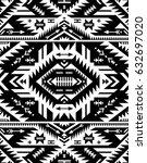 black and white color tribal... | Shutterstock .eps vector #632697020