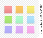 isolated sticky note on... | Shutterstock .eps vector #632699480