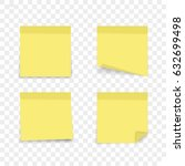 isolated sticky note on... | Shutterstock .eps vector #632699498