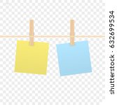 isolated sticky note on... | Shutterstock .eps vector #632699534