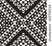 black and white tribal vector... | Shutterstock .eps vector #632700218